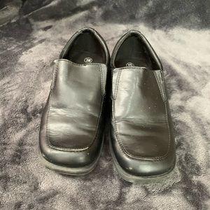 Boys slide on dress shoes